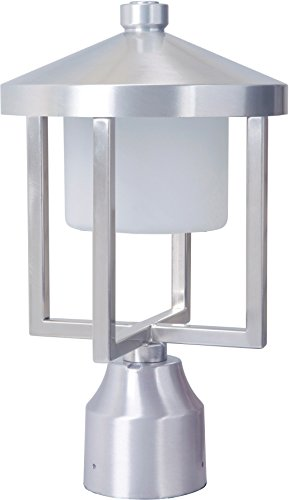 Craftmade Z9215-SA-LED Alta Outdoor LED Post Mount, Satin Aluminum 1-Light (8