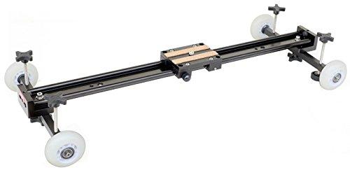 FLYFILMS Adjustable Axles DSLR Dolly Track Pulley Rail Car Slider 24'/0.6m with Bush Technology 15kg camera Load Nikon Sony Canon Blackmagic cinema BMCC