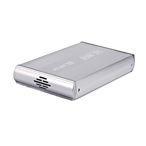 HDE 3.5 Inch SATA Hard Drive Case USB 2.0 Powered External Aluminum Enclosure Silver Finish by HDE (Image #1)