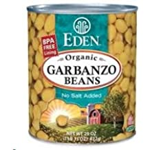 Eden Foods Organic Garbanzo Beans, 29 Ounce Can -- 12 per case.