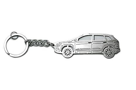 Amazon.com: Llavero con anillo para Skoda karoq acero clave ...