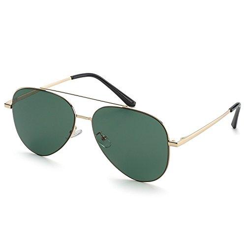 Non piloto de Aviador Sunglasses Unisex Hombres Polarizzato Dark TL Gafas Gafas Gafas Sol Green Guía Macho Plata pwEAxxv