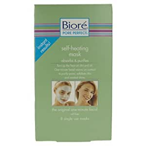 Biore Pore Perfect Self-Heating Face Mask (X8 Masks)
