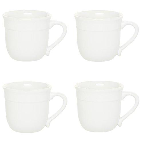 Emile Henry Flour Ceramic 14 Ounce Traditional Mug, Set of 4