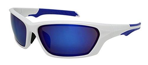Edge I-Wear Sports Safety Sunglasses ANSI Z87+ Color Mirror Lens 570092/REV-4WHT.burev) by Edge I-Wear