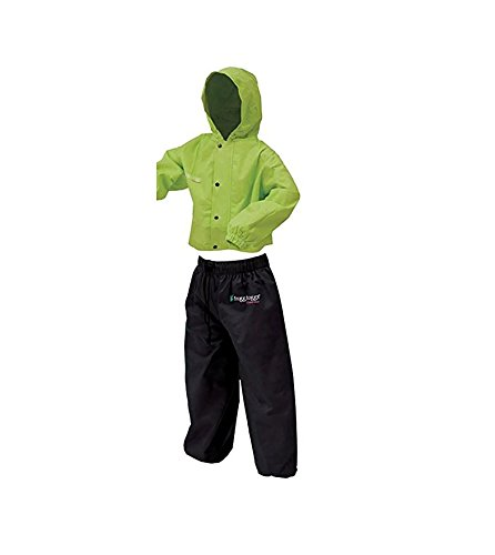 Frogg Toggs Polly Woggs Youth Rain Suit, Small, Hi-Viz Green