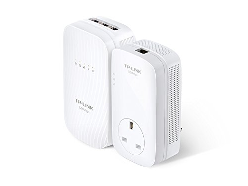 TP-LINK AV1200 1200Mbit/s Ethernet LAN Wi-Fi White 1pc(s) PowerLine network adapter by TP-Link