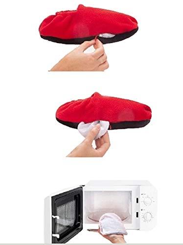 Apaise Idée Innovagoods Detend Ondes Chauffants Pantoufles Cadeau Bleu Micro Chaussons Et q8wUqX