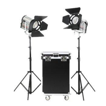 Falcon Eyes 2CLL-3000TDX 300W LEDスポットライト CRI 95セット プロのフィルムとブロードキャスティング用 アルミケース付き   B07G11MMRL