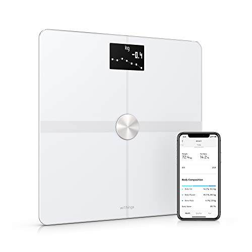 Withings | Body+ - Smart Body Composition Wi-Fi Digital Scale with smartphone app, White (Best User Reviewed Smartphone)