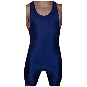 4-Time All American Wrestling Singlet for Men and Youth, Compression Clothes, Powerlifting and Exercise Equipment, MMA Wrestling Ring Gear/Apparel, Black, Navy Blue, Red (Sizes: 4XS-5XL)
