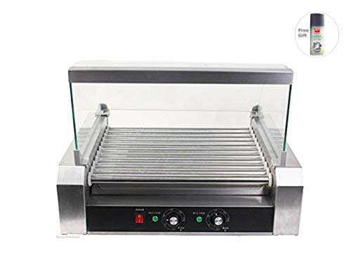 Commercial 30 Hot Dog 11 Roller Grill Cooker Machine + Free Gift By Sunbizpro