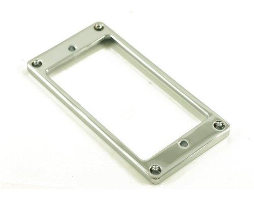 METAL HUMBUCKER RING LOW FLAT - CHROME (Chrome Pickup Rings)