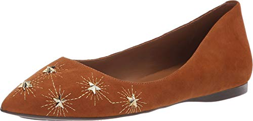 Flats Suede Sole French (French Sole Women's Cunning Flat Cuoio Suede 9 M US M)