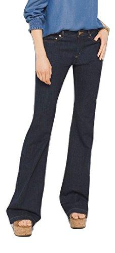 Michael Kors Selma Flare Leg Jeans Denim Pants, Indigo Wash -