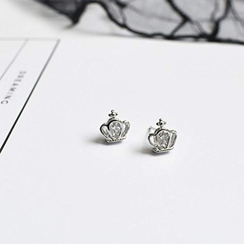 (Elegant Fashion Women Jewelry Gift Silver Earring Stud Earrings Crown Design )