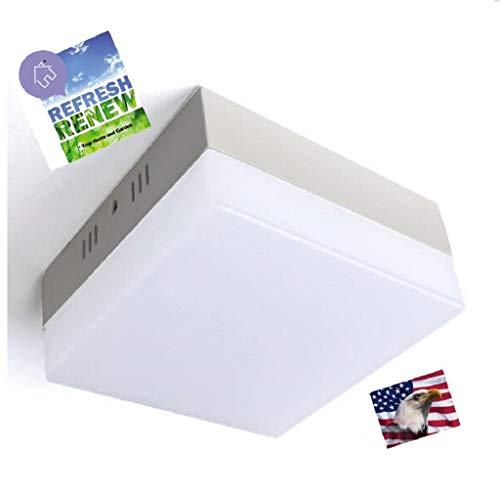 (iLett Square LED Flush Mount Fixture Ceiling Light, 9