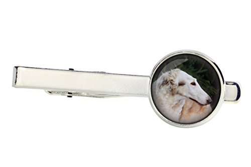 (Borzoi, Tiepins for Dog Lovers, Photo-Jewelry, Jewelry for Men,)