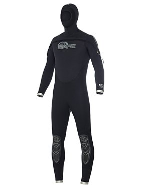 79301095f2 Amazon.com   8 7mm Mens Bare Velocity Hooded Semi Dry Scuba Diving ...
