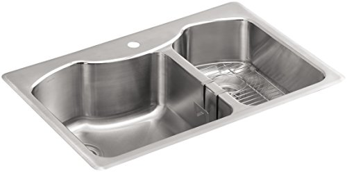 K 3844 1 NA Top Mount Double Bowl Kitchen Stainless