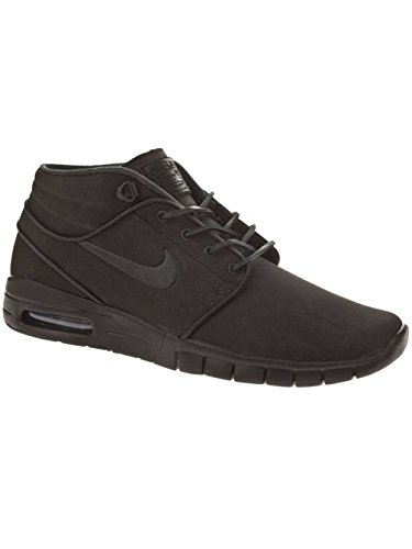 (Nike Mens Stefan Janoski Max Mid L Black/Anthracite Leather Size 7)