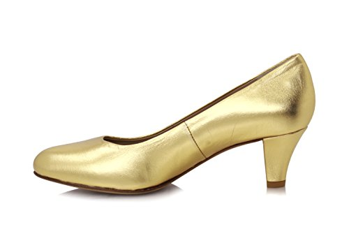 Diamond Heels Gold Metallic Pumps Gold