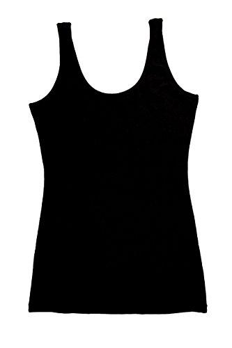 Thai Cotton Ladies Shirts (TREELANCE Organic Cotton Yoga Tank Tops. Yoga Shirts For Women. Black & White Moon Yoga Tank Top.)