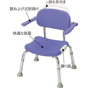 シャワーベンチGR コンパクト 【跳ね上げ式肘掛け付き】 高さ5段階調整可 持ち手付き (入浴用品/介護用品) B01CXFXT0M