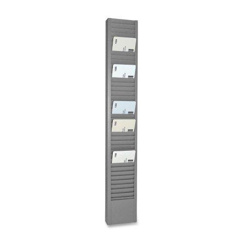 Wholesale CASE of 5 - MMF Industries Horiz/Vert Mount Swipe Card Rack-Swipe Card Racks, Vertical, 2-15/16x1