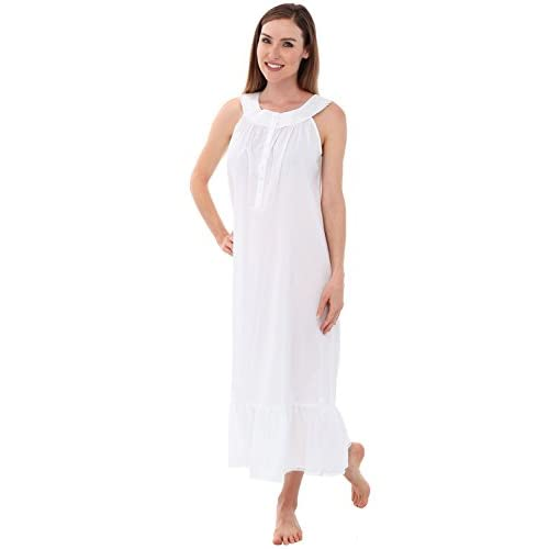 Alexander Del Rossa Womens Caroline Cotton Nightgown 7f9a2fd98