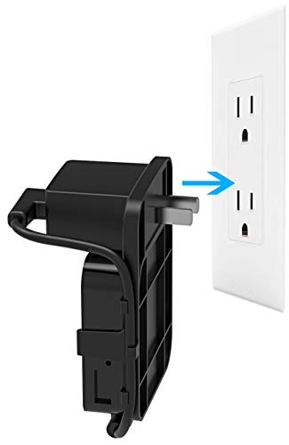 Mrount Outlet Wall Mount for Blink Sync Module, Simple Mounting Bracket Holder for Blink XT Blink XT2 Outdoor and Indoor Security Camera WiFi Hub, No Messy Wires or Screws (1 Pack, Black)
