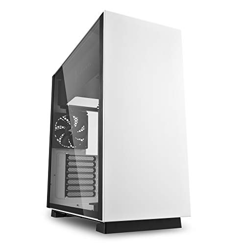 Sharkoon PURE STEEL - Caja de Ordenador, PC Gaming, Semitorre ATX, Blanco