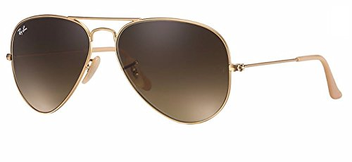 Gradient Ray Ban Aviator (Ray Ban RB3025 112/85 55M Matte Gold/ Brown Gradient Aviator)
