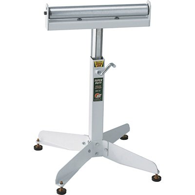 HTC HSS-15 Super Duty Adjustable 22-Inch to 32-Inch Tall Pedestal Roller Stand with 16-Inch Ball Bearing Roller, 500 Lbs. Material support by HTC