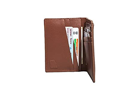 848275d596e3 The Postbox Genuine Leather Vertical Bifold Wallet - Brown  Amazon.in  Bags