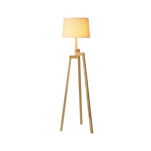 Cálidas y románticas lámparas de pie de madera maciza, decoración ...