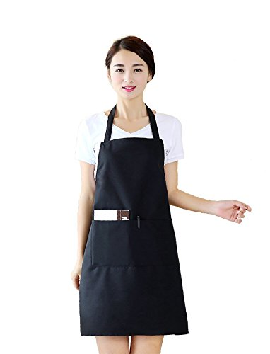 [Warmtree Bib Apron Kitchen Apron with Pockets - Durable, Comfortable, Easy Care ,30 x 22] (Cute Uniform Outfits)