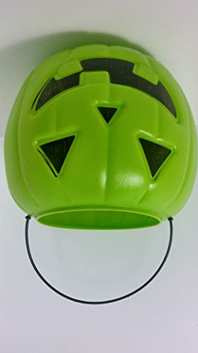 Jack O-lantern Buckets - lime green Pumpkin Halloween Trick-Or-Treat One Gallon Hand-Out Pail Jack O Lantern Bucket