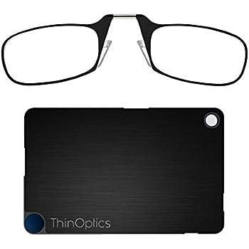 408ba40b1bc7 ThinOptics Reading Glasses + FlashCard Case | Black Frame, 1.50 Strength  Readers
