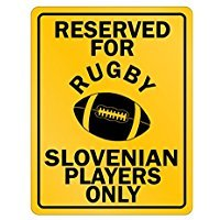 Reserved for Rugby Slovenia Only - Countries - Parking Sign [ Decorative Novelty Sign Wall Plaque ] ()