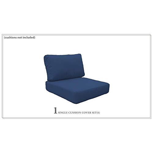 TK Classics Covers for Low-Back Chair Cushions 6 inches Thick