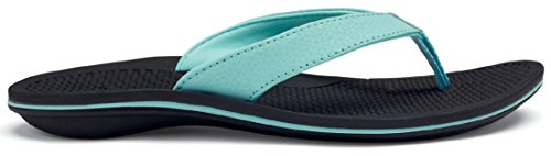 OLUKAI Ohana Sandal - Women's Sea Glass/Black 6
