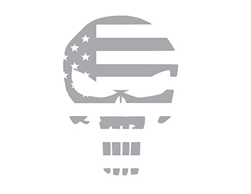 The Punisher Skull American Flag vinyl Sticker Decal (8