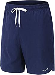 "Rdruko Men's Swim Trunks 7"" Quick Dry Beach Shorts Sportshorts with Me"
