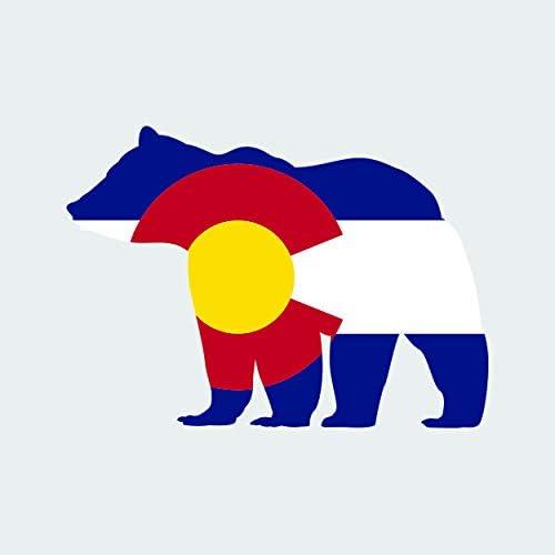 Alabama State Shaped Bear Flag Sticker Vinyl Outdoors Wilderness AL