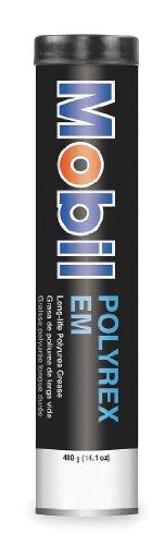 Mobil Polyrex EM Electric Motor Bearing Grease, Blue, 13.7 oz. Tube - Exxon Mobil Oil