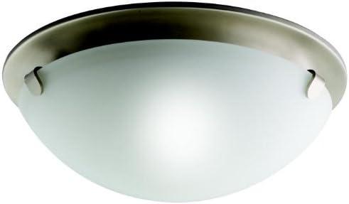 Kichler 7003NI, Ceiling Glass Flush Mount Ceiling Light, 2 Light, 120 Watts, Brushed Nickel