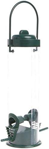 Acrylglas-Futtersäule mit 2 Anflugstangen, Metall-Futterspender zum Aufhängen, Wild Bird Metal Feeder Hängende Feeder, die Fenster für Gartenhof-Dekoration betrachten