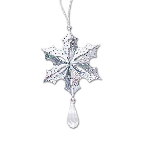 Snowflake Ornament China (Pendant Drop Ornaments - Christmas Iron Ornament Tree Creative Hollow Pendant Snowflakes Shape Metal Hanging Decor - Bell Christmas China Xmas Metal Ornament Snowflake Decor Snowflake Iron New)