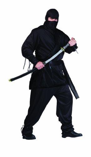 RG Costumes Men's Plus-Size Ninja, Black, X-Large]()